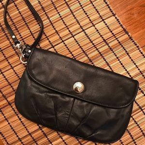 Leather Clutch/Wristlet